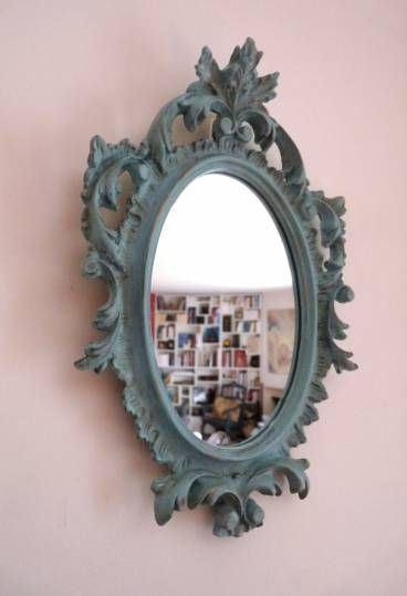 Miroir Baroque Italien Patine En Bleu Celadon En 2018 Miroirs