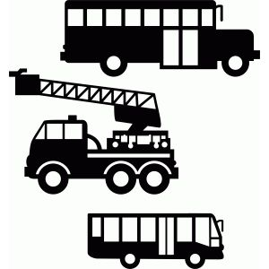 Silhouette Design Store - View Design #75556: transport construction set 1