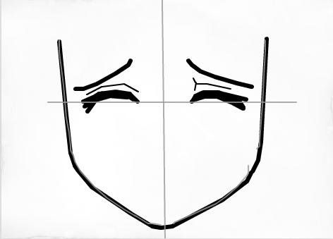 How to draw a scared face