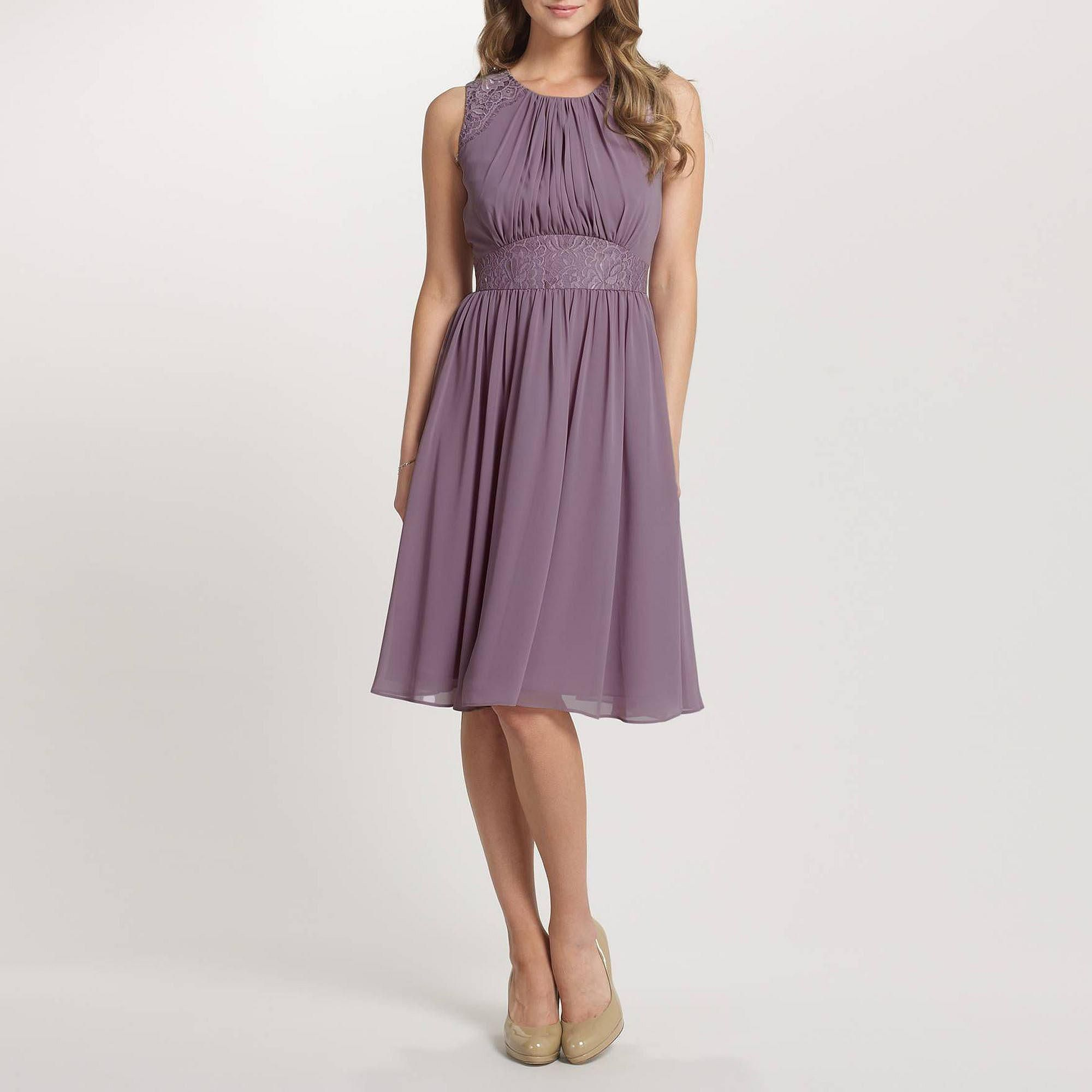 Lavender Alia Chiffon Short Dress - Bridesmaid dresses - Debenhams ...