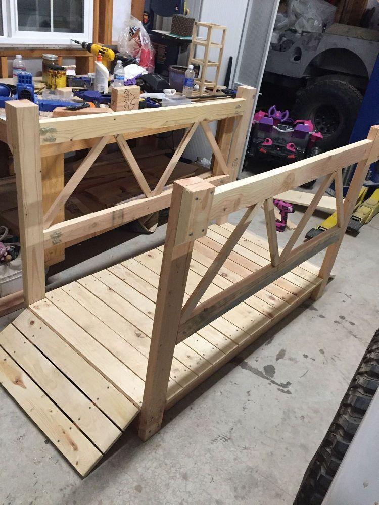 DIY Wood Garden Bridge Wood gardens, Diy wood and Bridge