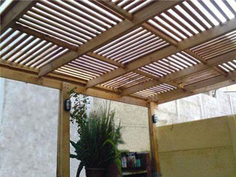 Pérgolas de madera, acero, aluminio, vidrio y más - Materia Viva