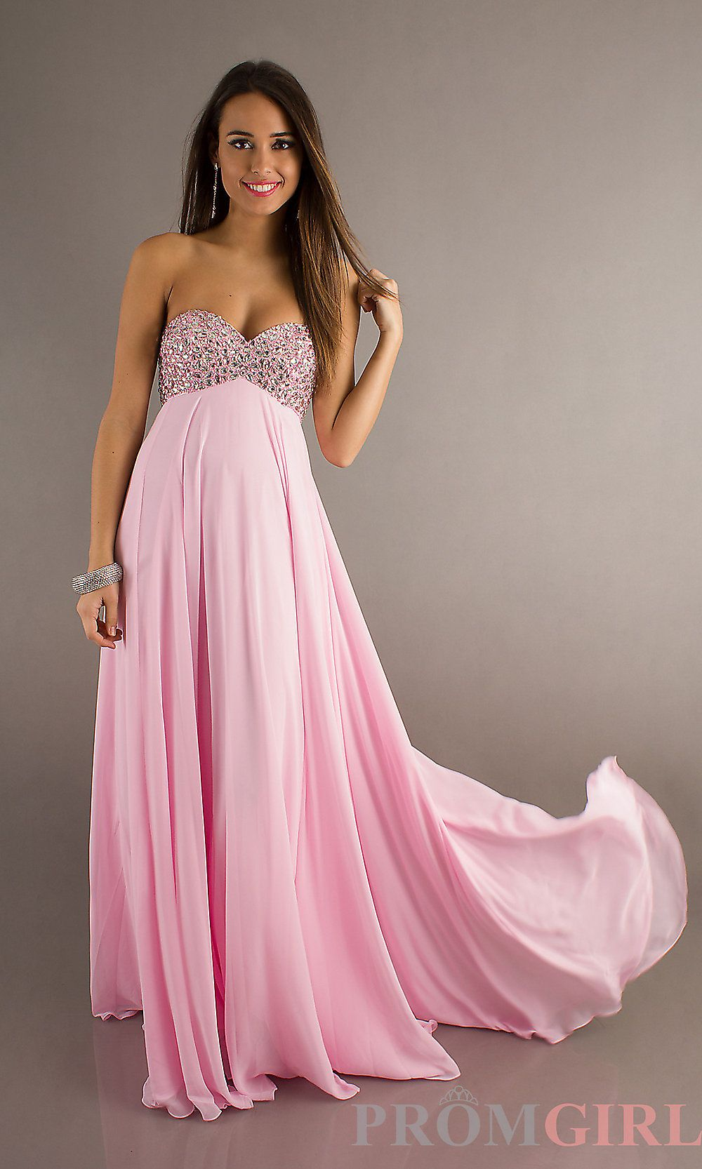 Strapless prom gown with train by alyce paris cotton candy gowns