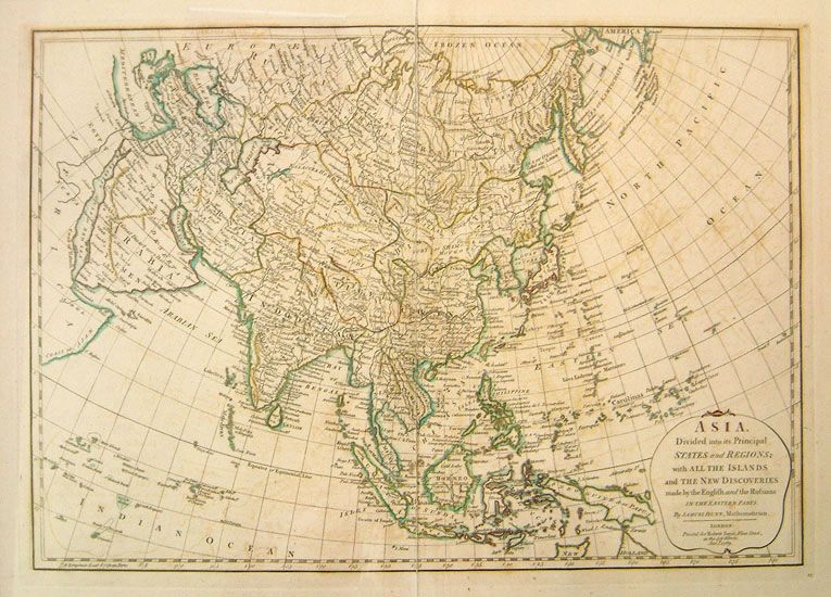 Map Of Asia Without Names.I Like Old Maps And I Like Weird Town Names Too Imagery I Dig