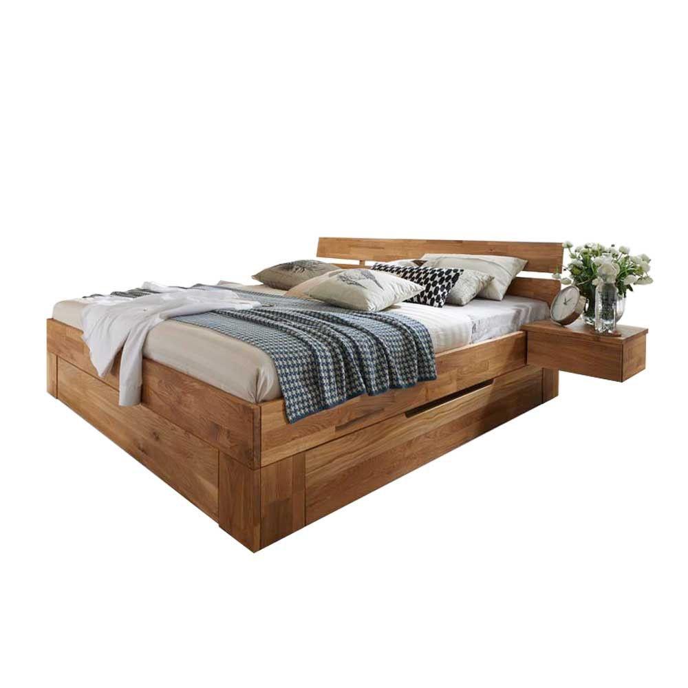Bett Bettkasten Wildeiche Massivholz Cranos Bett Pinterest - Schlafzimmer bett mit bettkasten