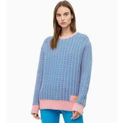 Photo of Outlet – Calvin Klein Zweifarbiger Pullover aus Baumwollmischung L – Extra Sale Calvin Klein