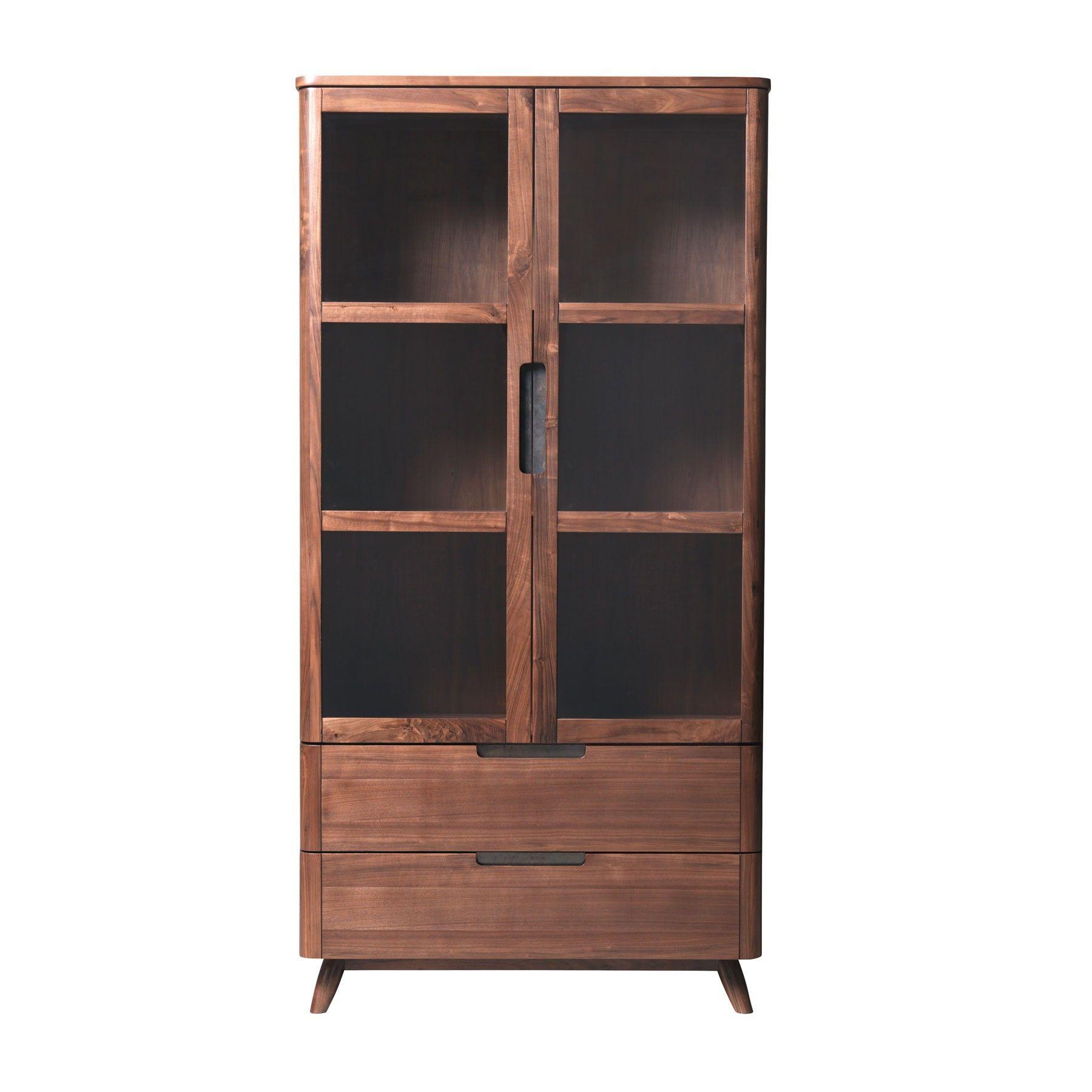Loft Walnut Display Cabinet Meble Pinterest