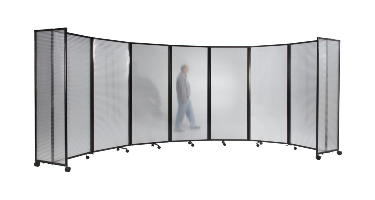 Room Divider 360 Accordion Portable Partition Polycarbonate Plastic Panels
