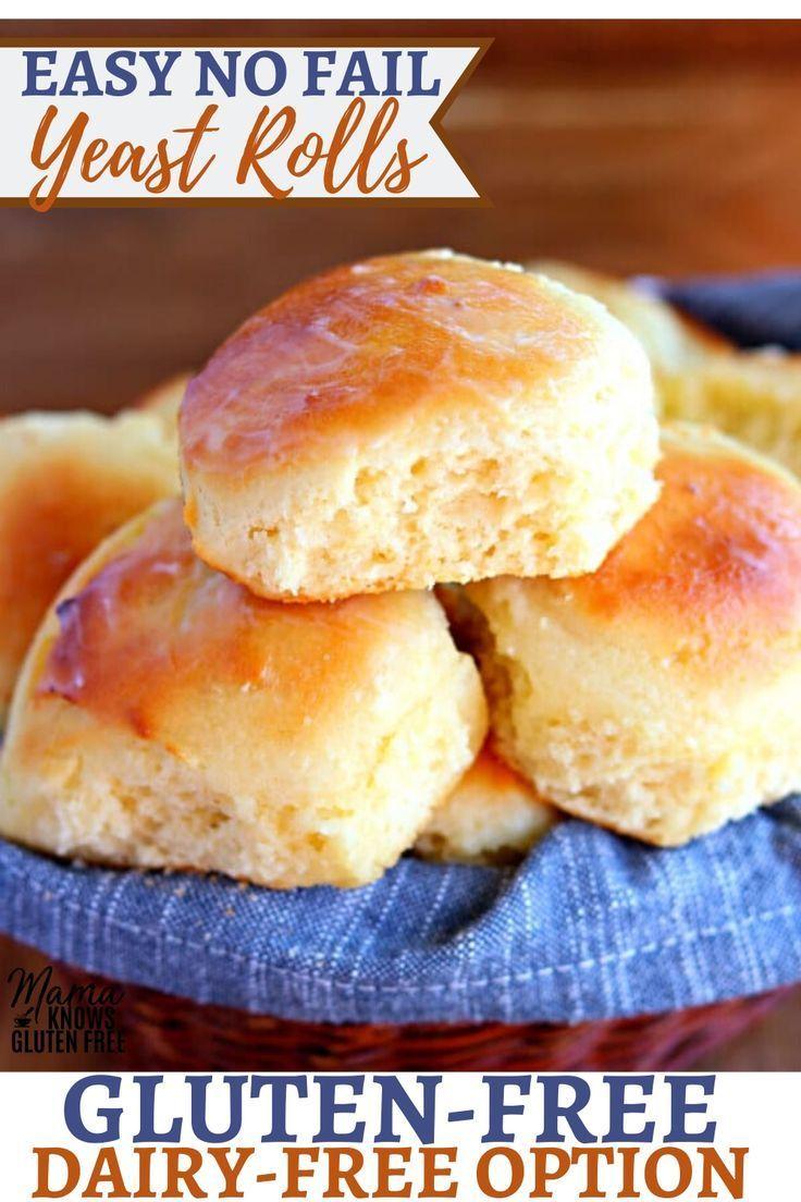 Gluten Free Dinner Rolls Dairy Free Option Gluten Free Yeast Free Gluten Free Dairy Free Recipes Gluten Free Dinner Easy