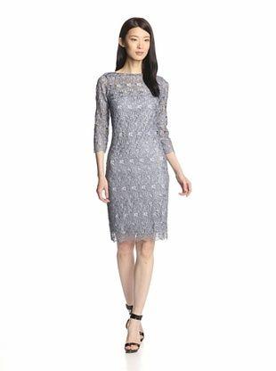 47 Off Marina Women S Metallic Lace Dress Periwinkle