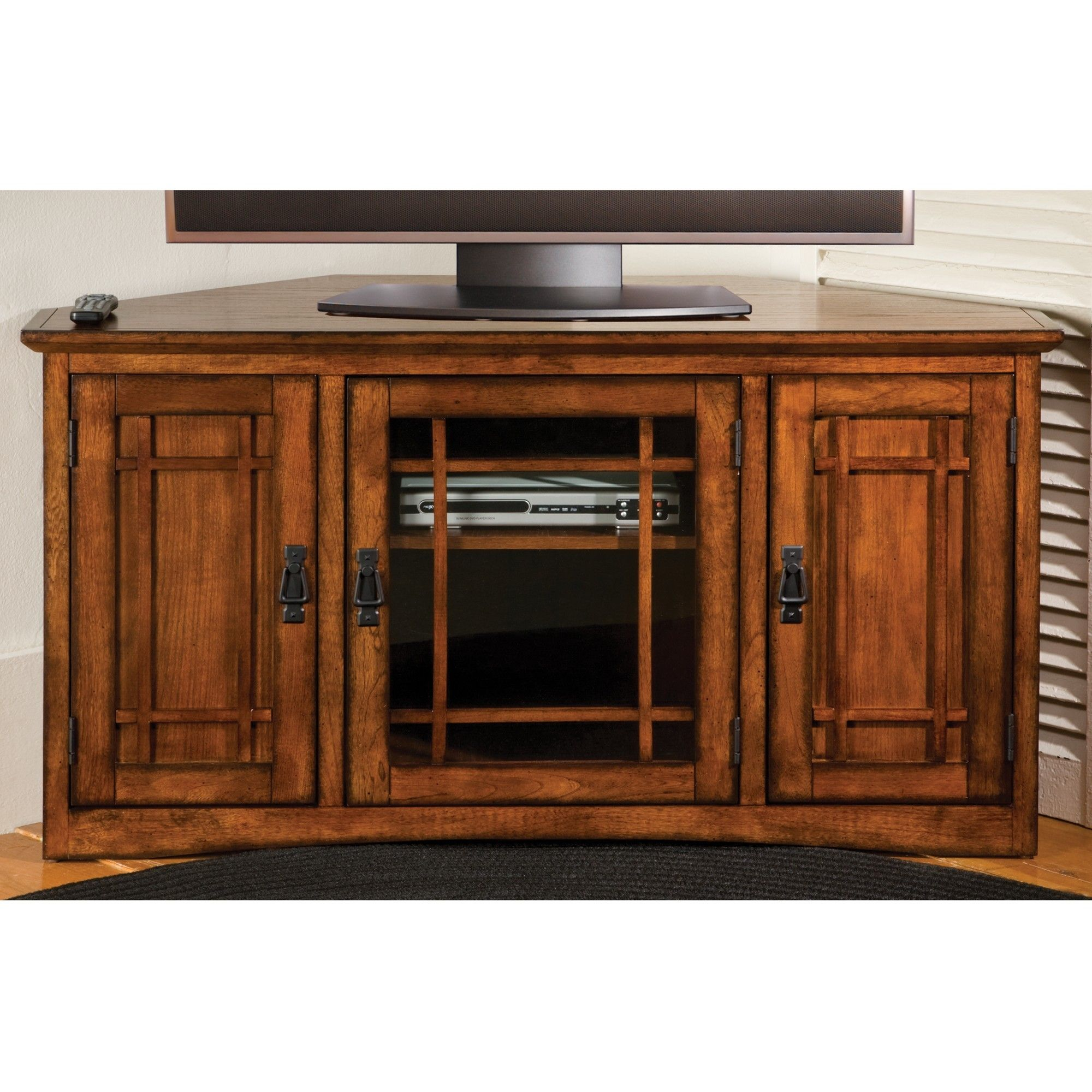 Corner Oak Tv Cabinets For Flat Screens With Doors Http