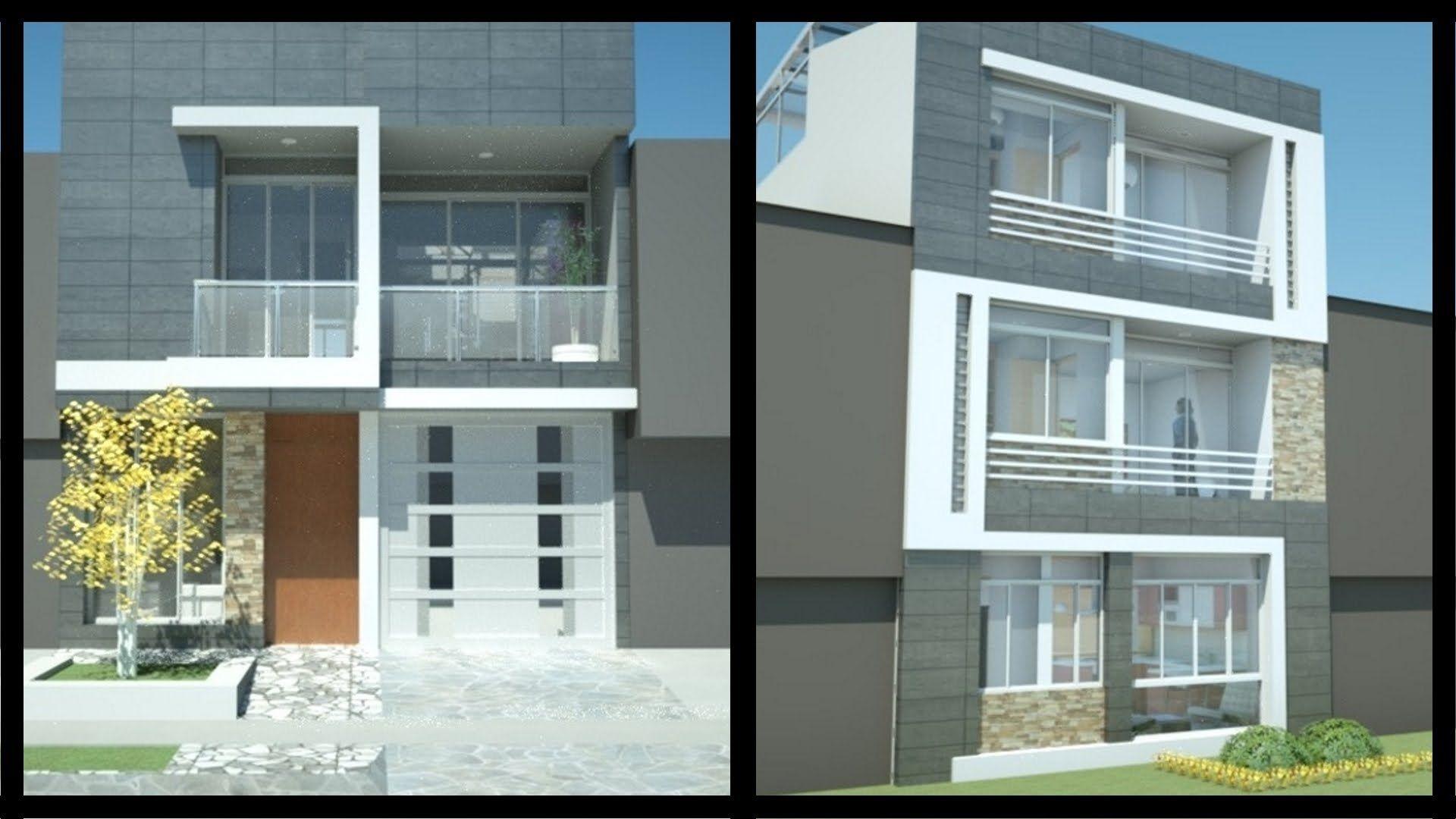 Casa moderna minimalista 6.00 m x 12.50 m, 220 m² Casa