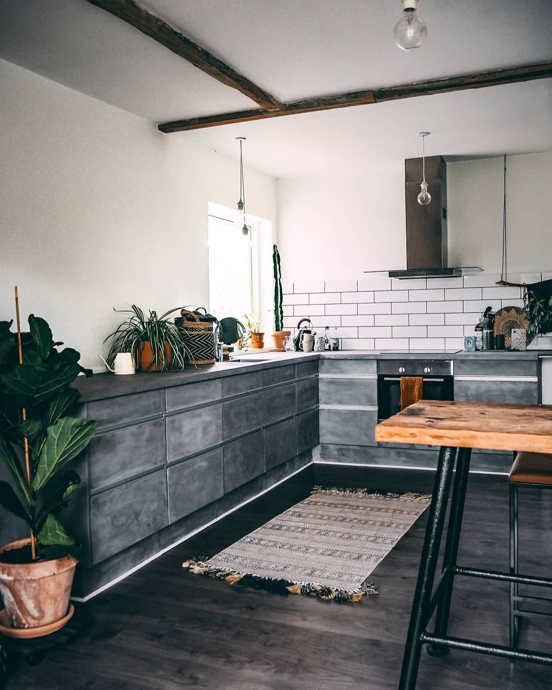 Im Sitting In The Kitchen With A Cup Of Coffee First Cup Of The Day And It Hit Me How The Heck Scandinavian Kitchen Design Trendy Kitchen Tile Kitchen Design