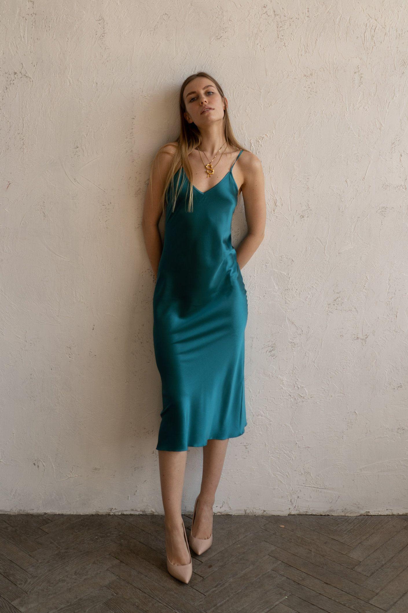 Pin On Silk Slip Dresses