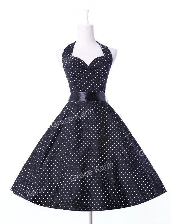 20318e79ba4dd Summer style Vestidos Womens Dresses Casual Polka Dots Retro Vintage 50s robe  Rockabilly Swing Pinup Party Dress plus size