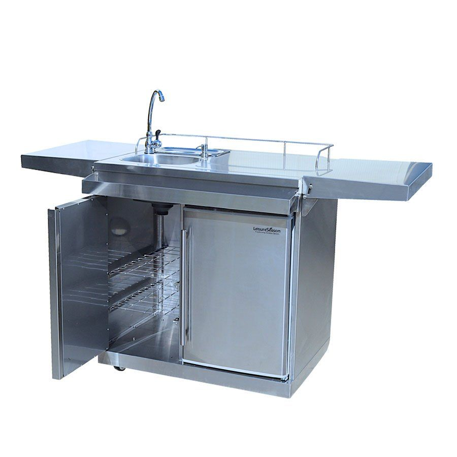 Shop Leisure Season Okc158 Outdoor Kitchen Cart Beverage Center With Fridge And Sink At The Mine Browse Our Outd Beverage Center Outdoor Kitchen Kitchen Cart