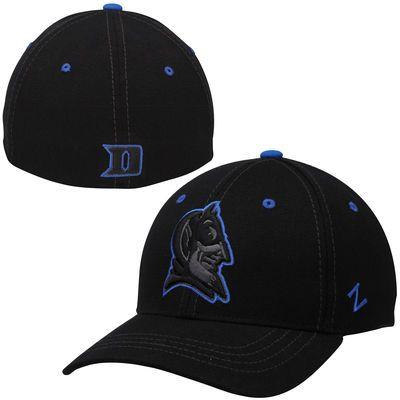new styles cbce8 81bdf Mens Duke Blue Devils Zephyr Black Basic Element Flex Hat