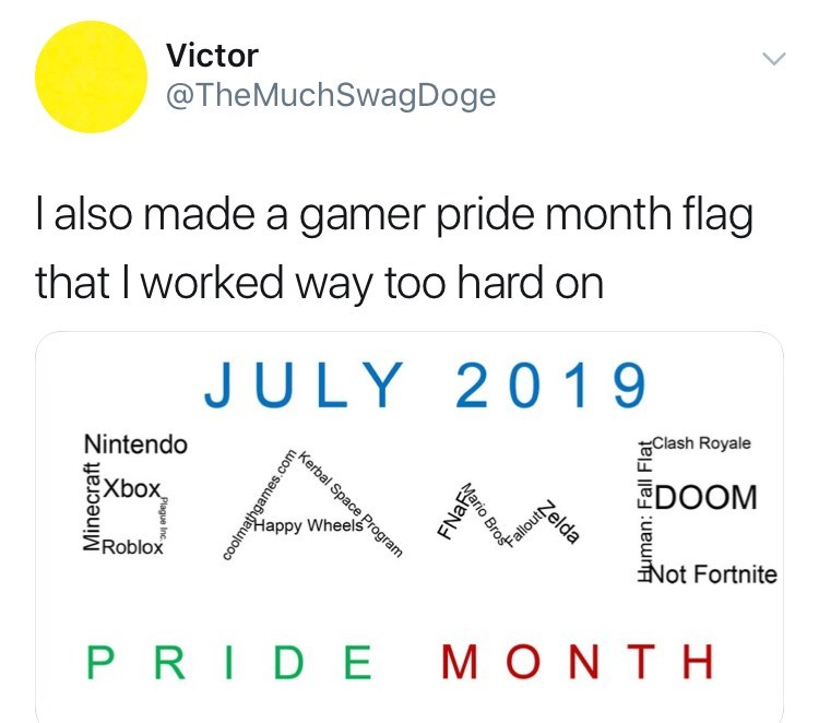when is gamer pride month