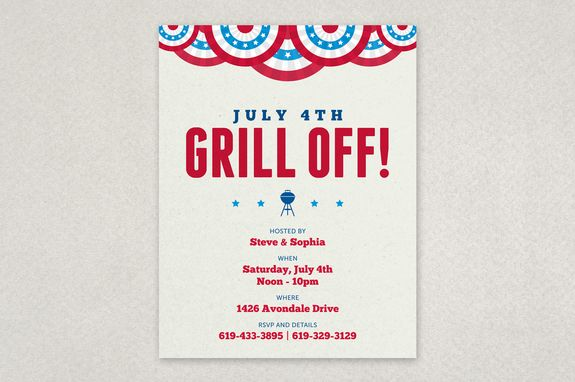 Summer Bbq Picnic Flyer Template  With A Theme Reminiscent Of A