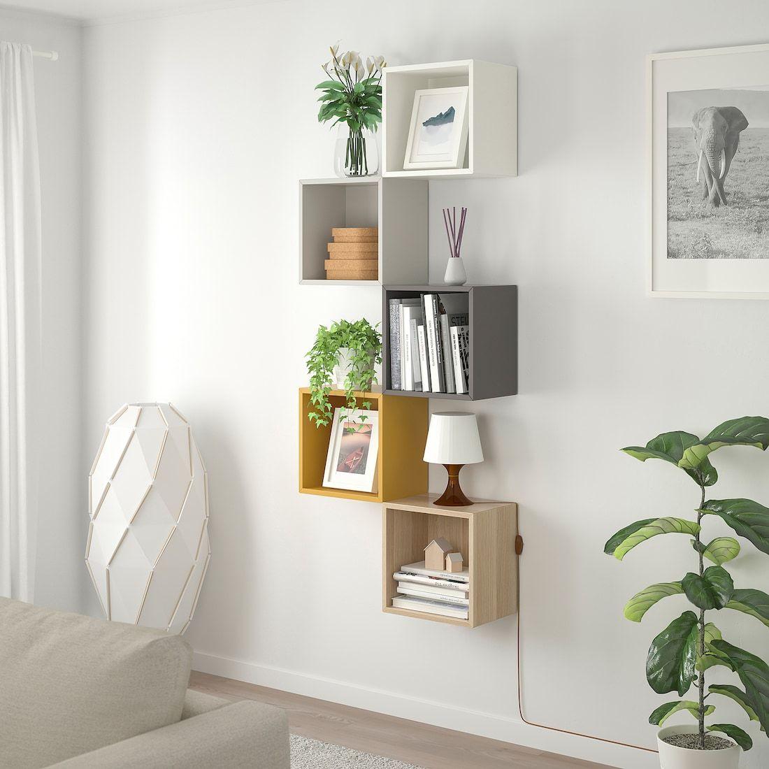 Mensole In Legno Ikea eket combinazione di mobili da parete - multicolore 1