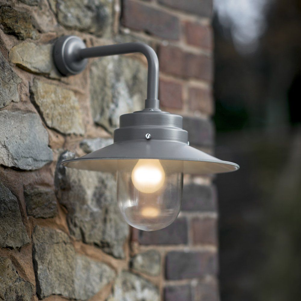 Large Exterior Wall Light With Round Shade Garden Pinterest