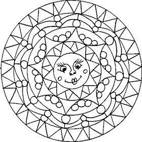 Mandalas Para Pintar: mandalas con soles