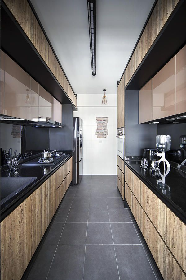 Kitchen Design Ideas: 8 Stylish And Practical HDB Flat Gallery Kitchens |  Home U0026 Decor