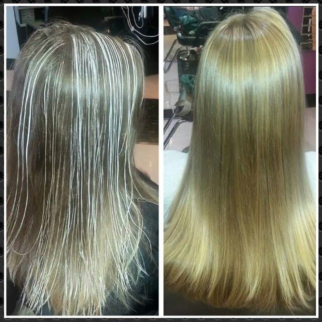 Sun Kissed Honey Blonde Natural Looking Highlights Done With