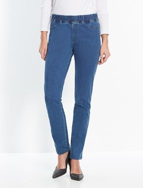 Denim Treggings - Standard Calf Width blue denim Do you like the look of jeans but want comfort too? Well these stretch treggings are made for you! The waistband is fully elasticated with a mock fly, and there are 2 mock pockets on the front and 2 b http://www.MightGet.com/january-2017-11/denim-treggings--standard-calf-width-blue-denim.asp