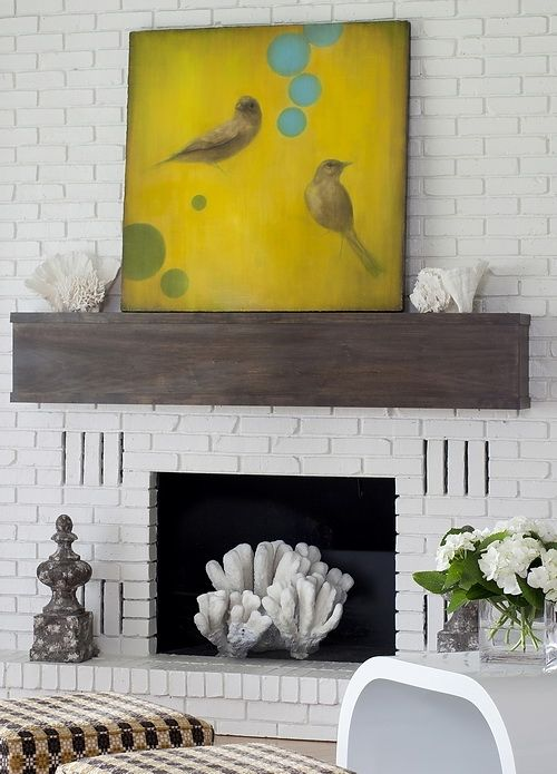 Fireplace Mantle Decor | Tami Risinger\'s living room. | At the Beach ...