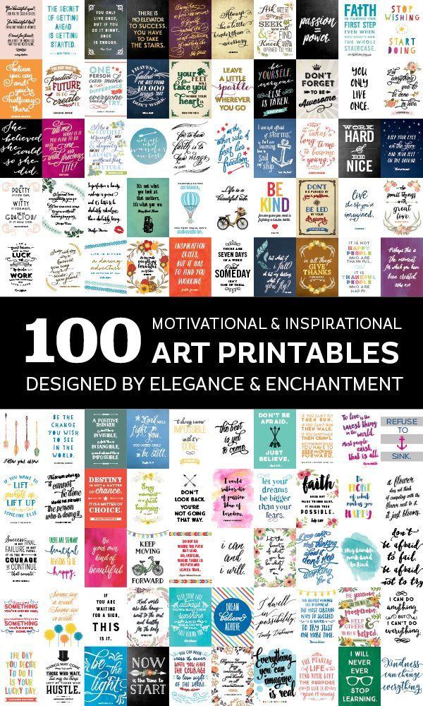 Motivation Monday Celebrating 100 Inspirational Printables All