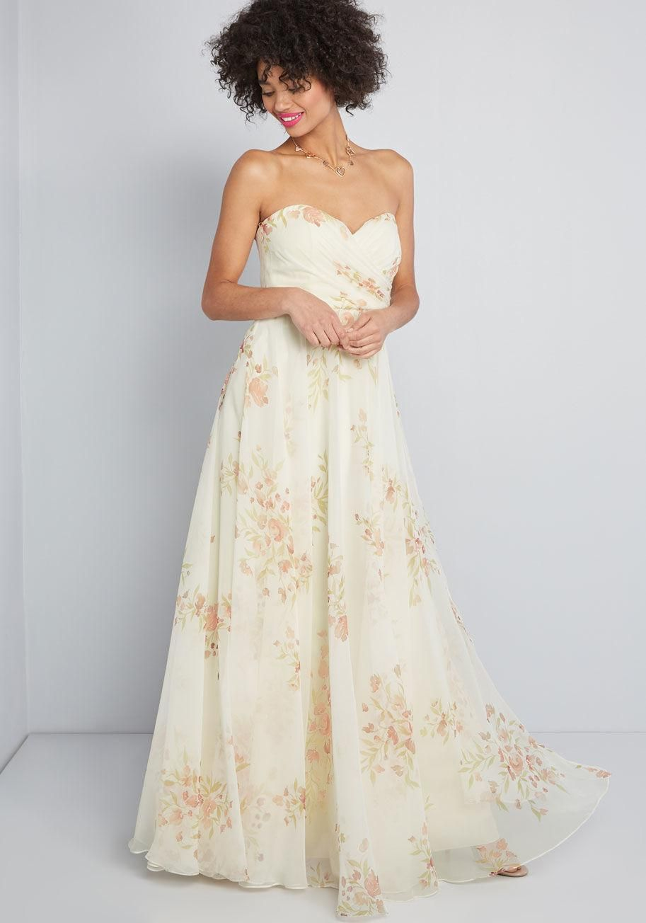 Down The Aisle Floral Maxi Dress Modcloth Wedding Dress Floral