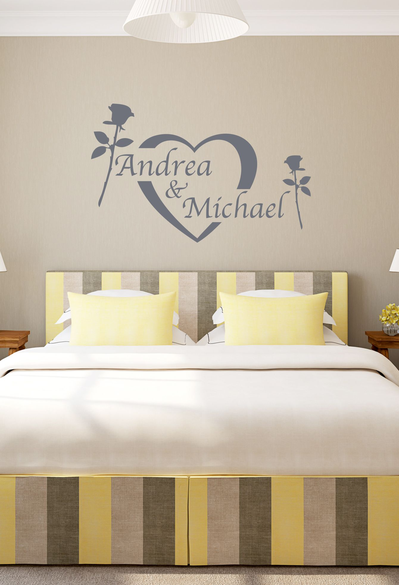 ♥ Wandtattoo mit Wunschnamen ♥ #Wandtattoo #Schlafzimmer #Spruch ...