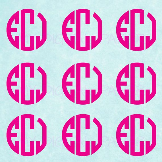 Items similar to monogram sticker sheet bulk custom monogram decal choose size quantity color bulk stickers on etsy