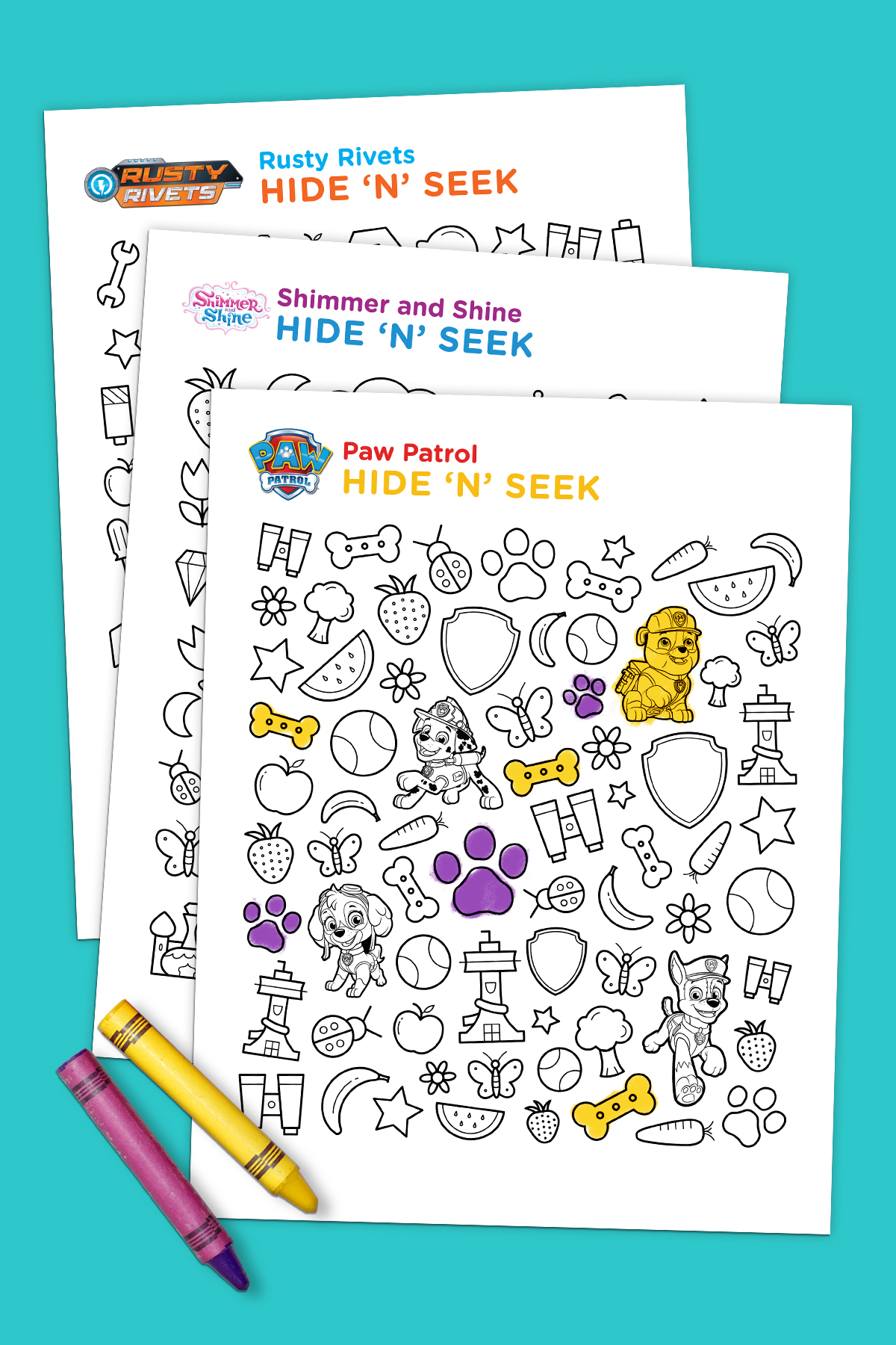 Hide N Seek Printable