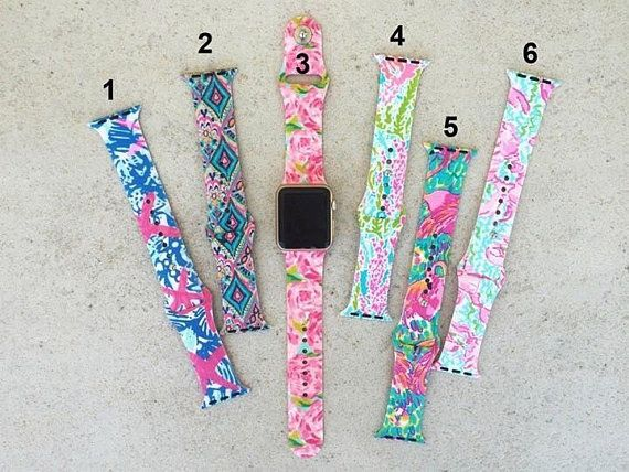 Lilly Inspired Apple Watch Bands with Monogram/ Name