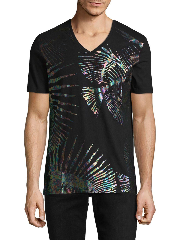 Versace Mens Printed Cotton T Shirt Black Size Xl Versacee On