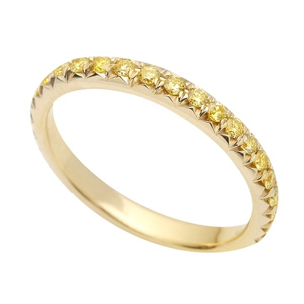 Yellow Diamonds Dot This Wedding Band From Superior