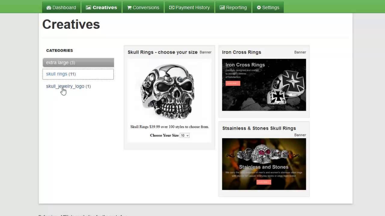 SkullJewelry.com - how to become an affiliate