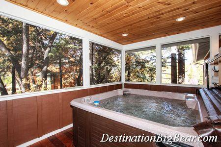 Big Bear Cabins Photos Big Bear Cabin Big Bathrooms Indoor Hot Tub