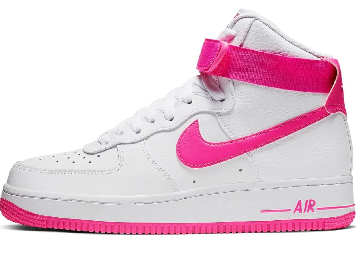 nike air force 1 high all pink