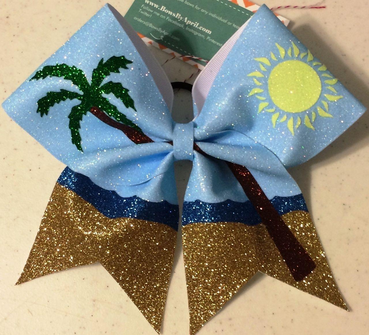 The beach full glitter cheer bow bows bow headbands cute cheer bows cheer bows bows - Cute cheer bows ...