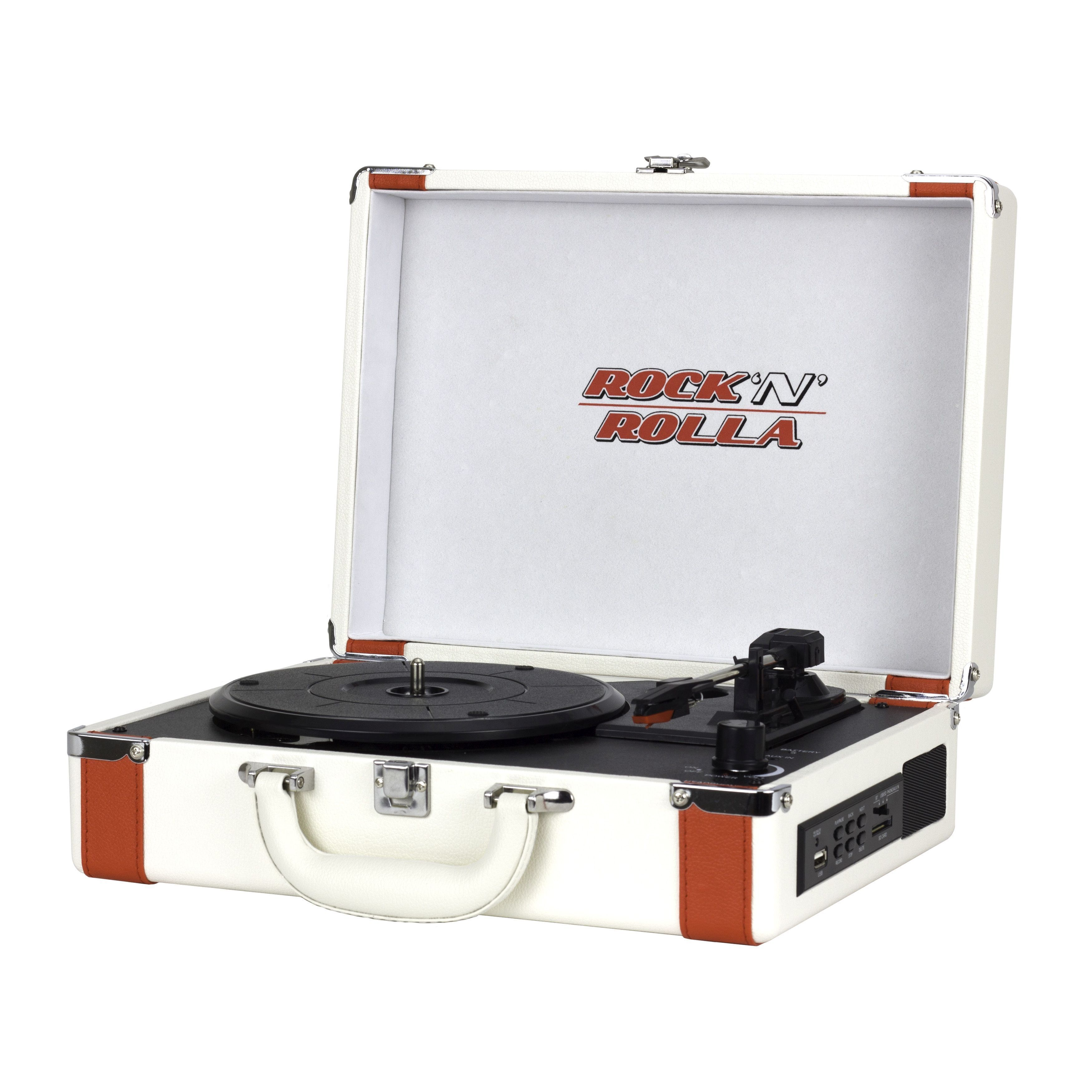 Rock 'n' Rolla Premium Rechargeable Portable Briefcase Turntable With Bluetooth