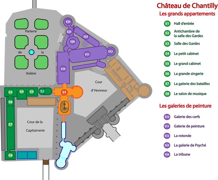 Château de Chantilly - Plan Musée Condé   Chateau de chantilly, Chantilly, Cabinet
