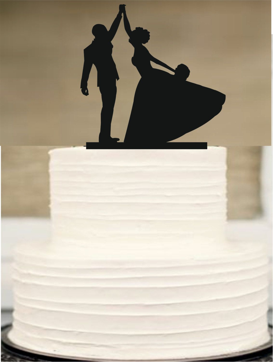 Funny Wedding Cake Topper Silhouette Wedding Cake Topper Bride And