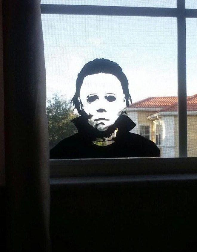 michael myers halloween vinyl wall sticker by islandcustomdesigns 999 - Michael Myers Halloween Decorations