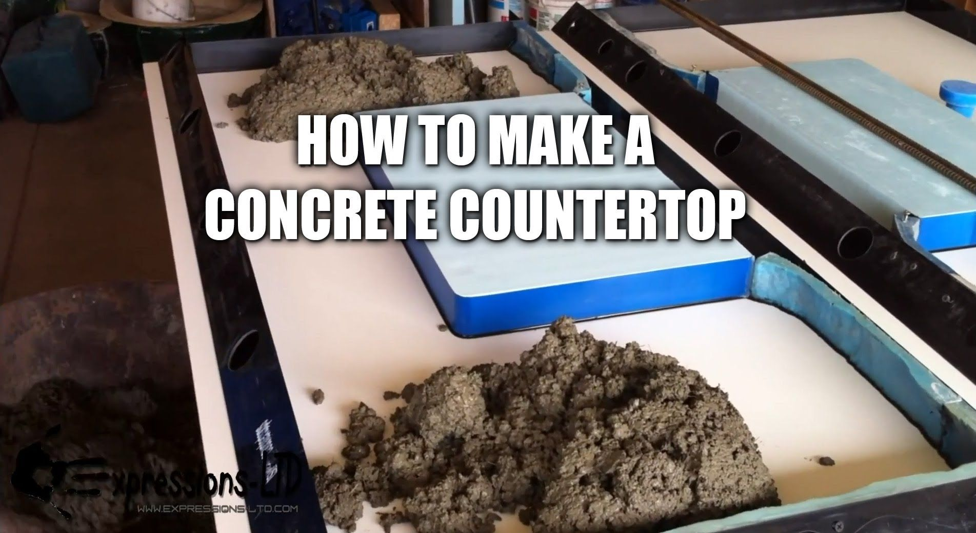 Making A Concrete Countertop With Sink Complete Steps Concrete