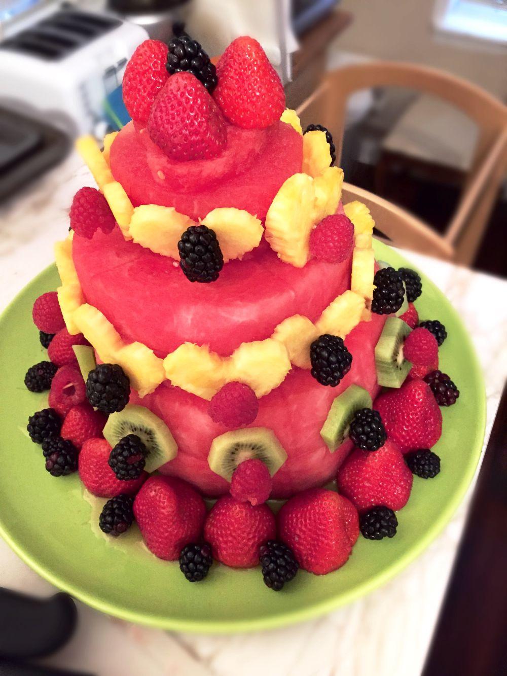 A sweet surprise watermelon fruit cake chocolate fruit