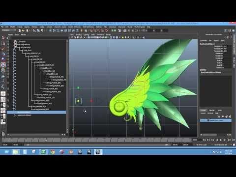 Rigging - Basic Wings Rig (Autodesk Maya) - YouTube | Anime