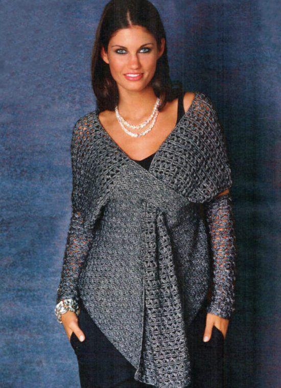 Diy crochet lace jacket free pattern ideas lace jacket free crochet tunic pattern for purchase on etsy dt1010fo